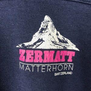 VTG Zermatt Matterhorn Switzerland Blue Sweatshirt